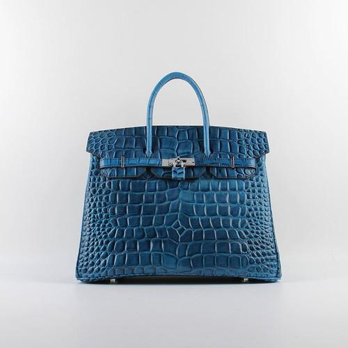 7b5476ab2b Hermes Birkin Bag 35cm Dark Blue Big Crocodile Vein Silver Hardware - Hermes  Birkin Bags 35CM - Hermes Outlet ☺. ☻ ☻