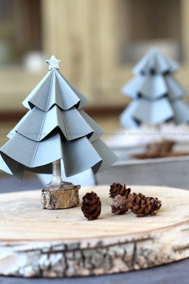 DIY Tannenbaum aus Pappe - lady-stil.de