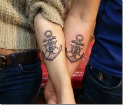 2644e6f11 34 Matching Pair Of Tattoos Of All Lovers To Admire | Valentines ...