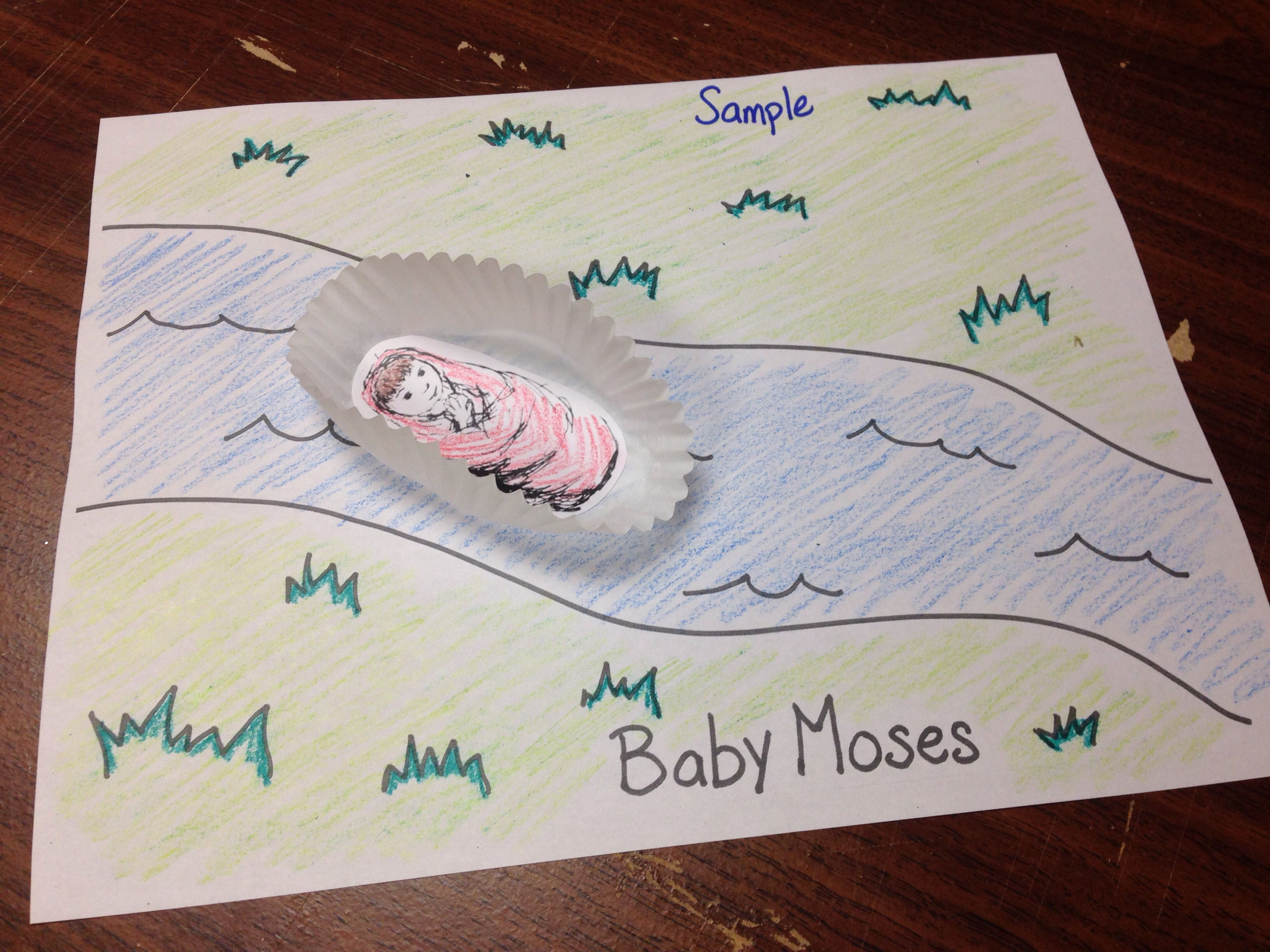 Sunday school crafts for preschool - Baby Moses In Basket Craft For Toddlers