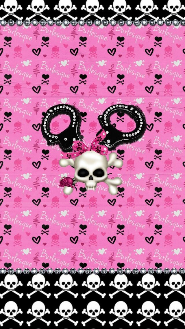 Freebie Fierce Wallpaper Collection Skull Wallpaper Backgrounds Girly Cute Wallpaper Backgrounds
