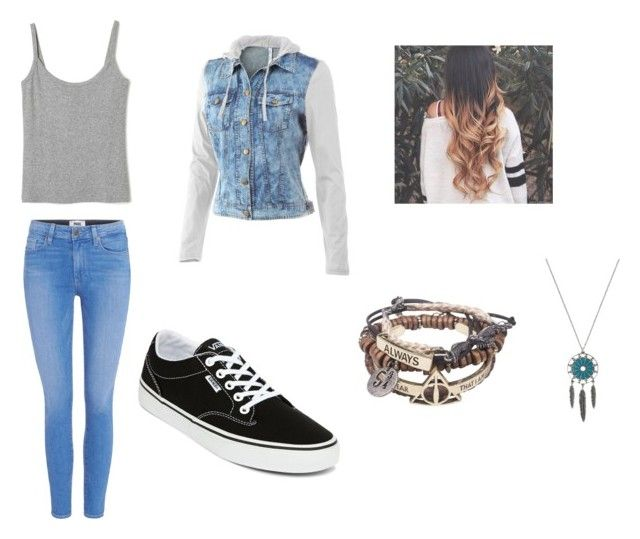 """Sans titre #40"" by carolinechx ❤ liked on Polyvore featuring Paige Denim, Mur Mur and Vans"