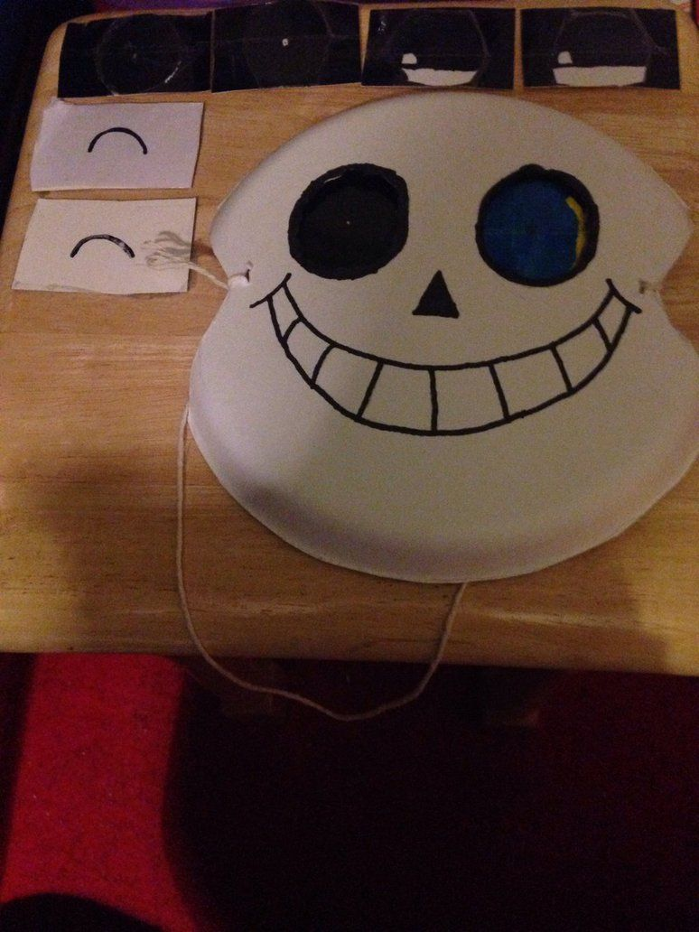 Undertale Sans Mask With Changeable Eyes By Cjdrawsstuff On Deviantart Sans Mask Undertale Pokemon Halloween