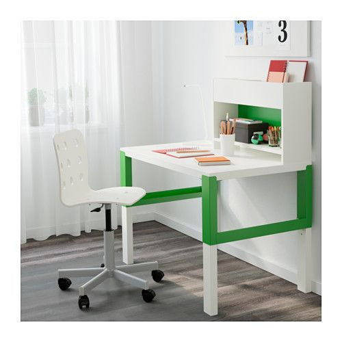p hl bureau avec l ment compl mentaire blanc vert kids rooms ikea and bureaus. Black Bedroom Furniture Sets. Home Design Ideas