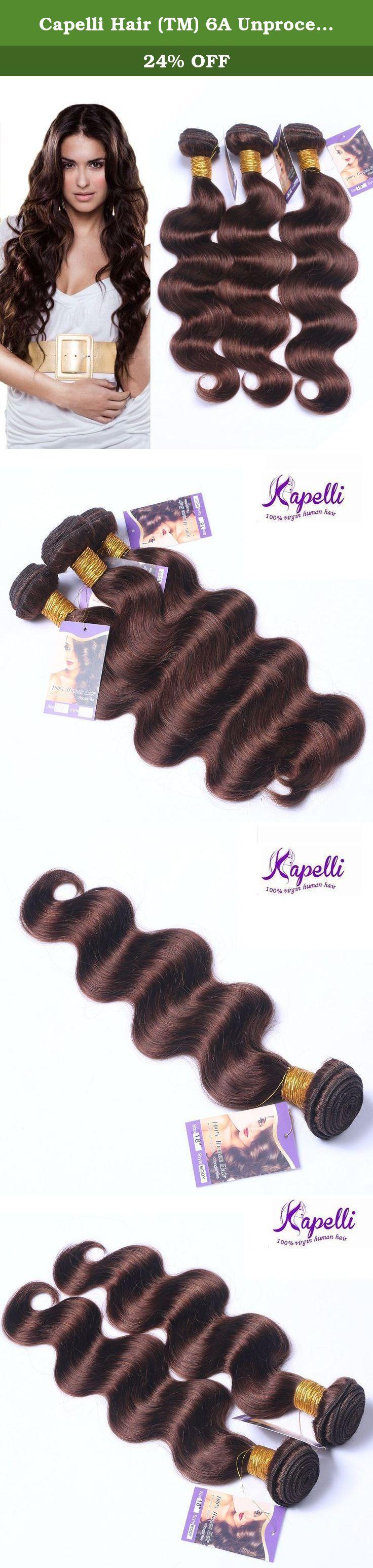 Capelli Hair Tm 6a Unprocessed Brazilian Body Wave 3 Bundles