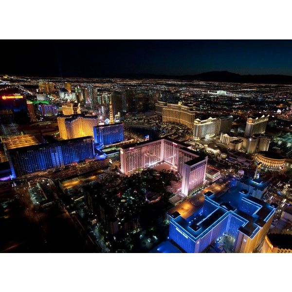 Lighting Las Vegas Stunning night-time pictures show Sin City in all... ❤ liked on Polyvore