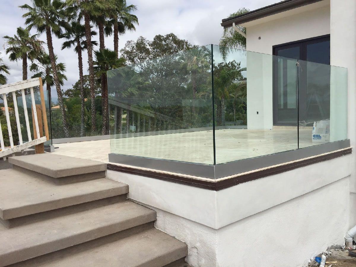 Image result for hardened glass railings House styles