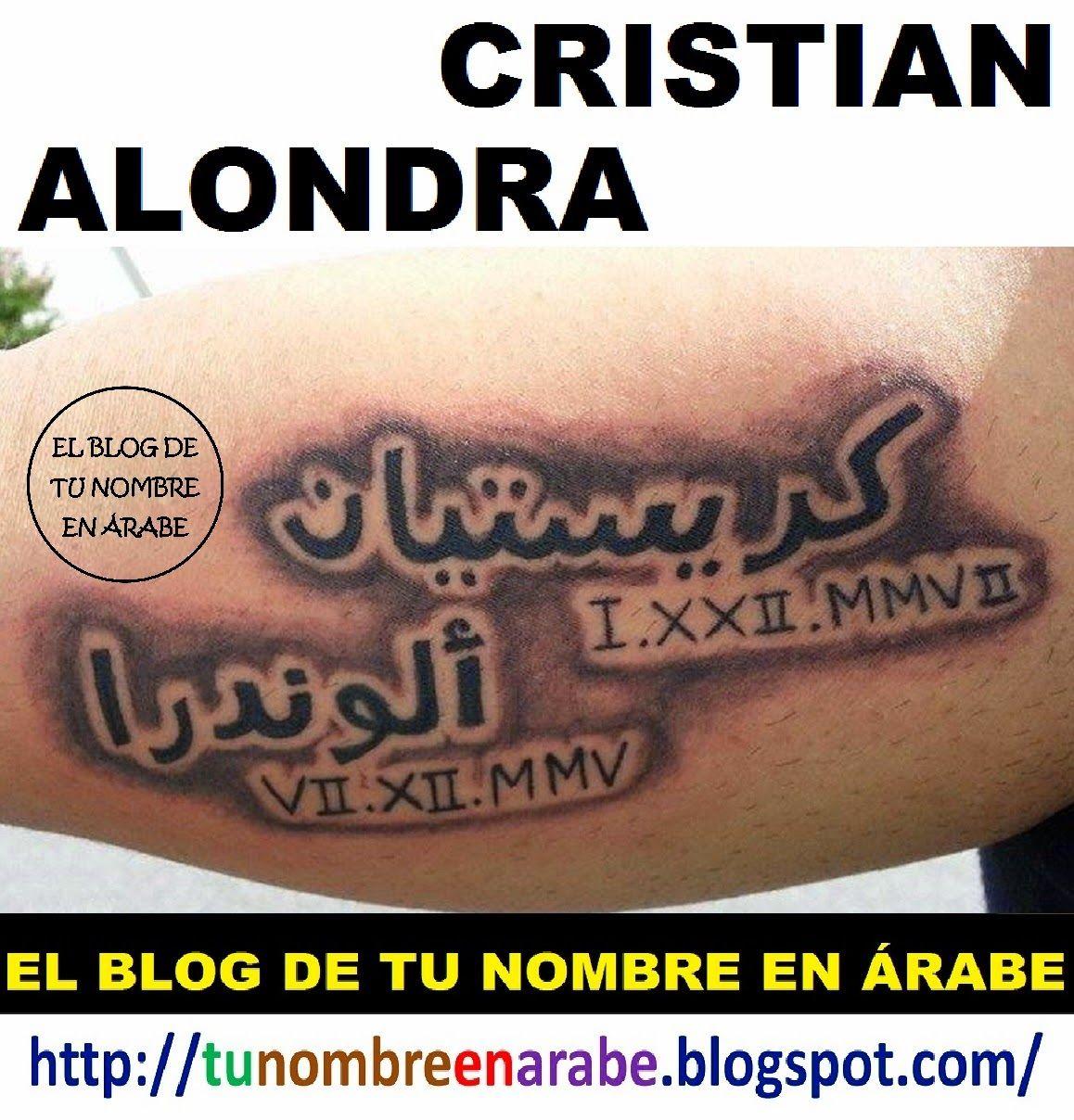 Tatuajes con el nombre cristian