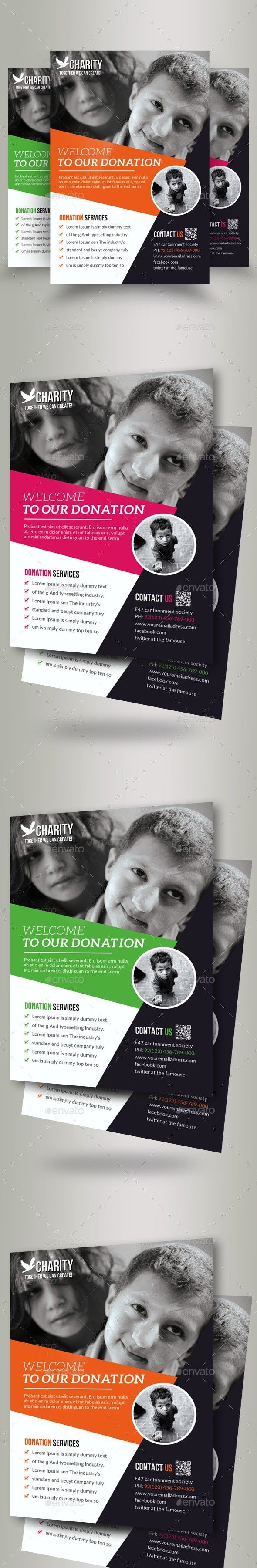 Charity Donation Flyer Templates Flyers Layout Pinterest
