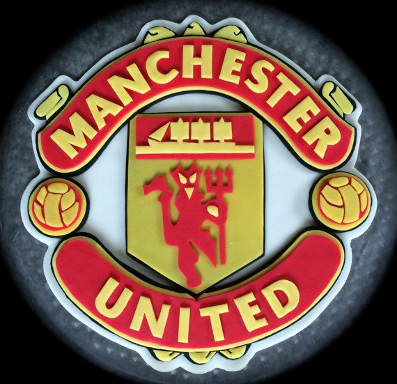 Edible Manchester United Cake Topper Fondant Manchester United Cake Soccer Birthday Cakes The Unit