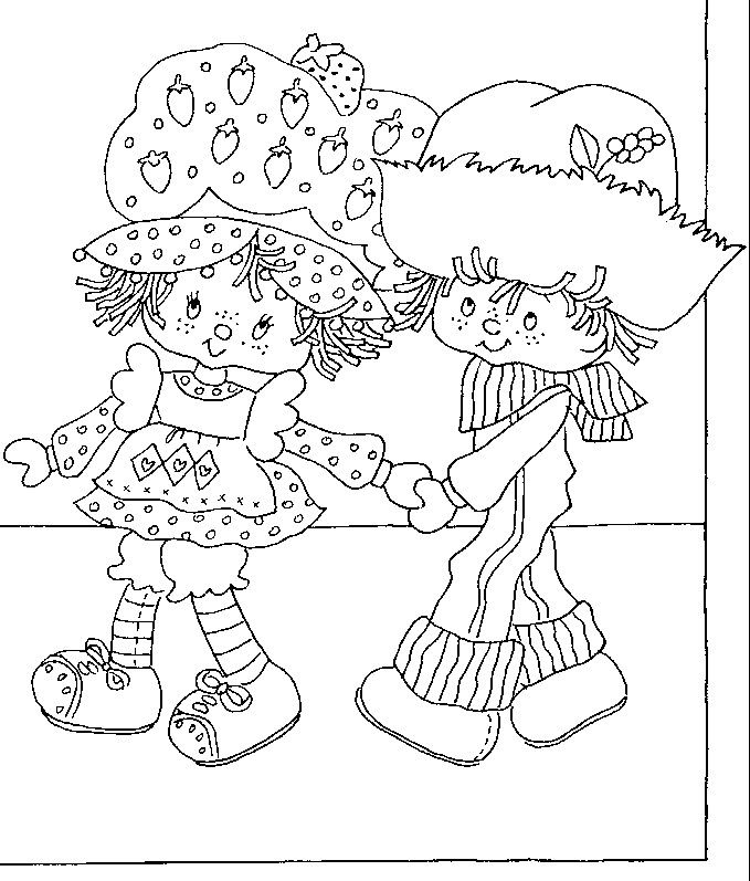 story book character coloring pages   Strawberry Shortcake's Storybook to Colour   Coloring ...