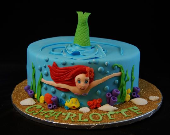 Little mermaid cake cakes and cake decorating for Ariel cake decoration
