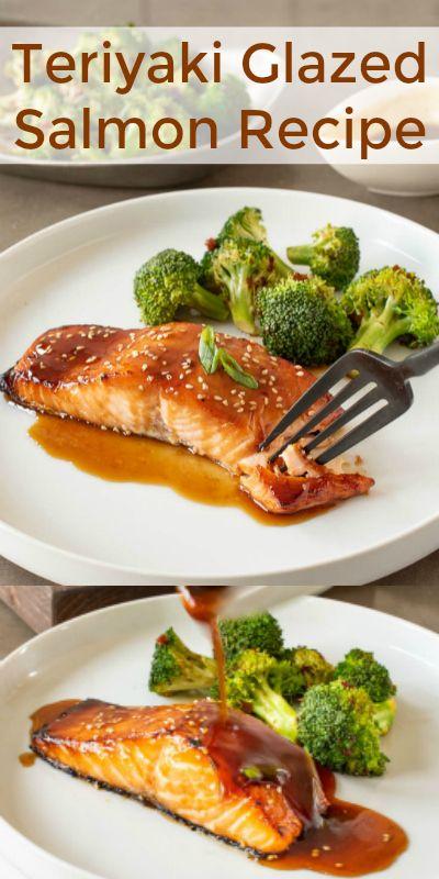 Teriyaki Glazed Salmon Recipe - Culinary Ginger