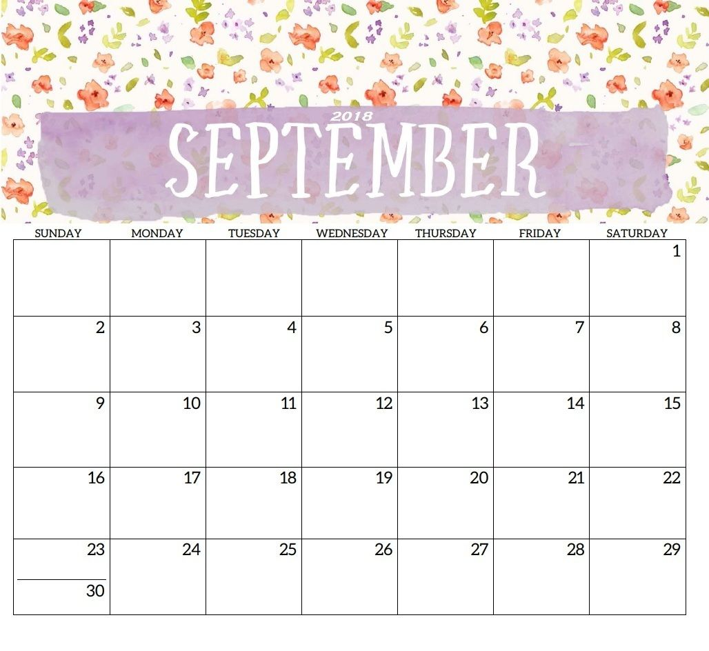 printable calendar september 2018 with public holidays