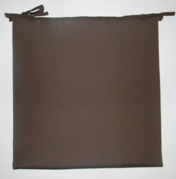 Indoor Outdoor Universal Foam Seat Cushion With Ties Solid Dark Brown Choose Size Thickness 2 Or 3