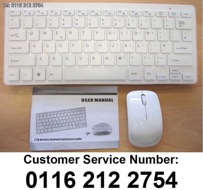 6c00fa694fa White Wireless MINI Keyboard & Mouse for Samsung UA40F5500AM 40