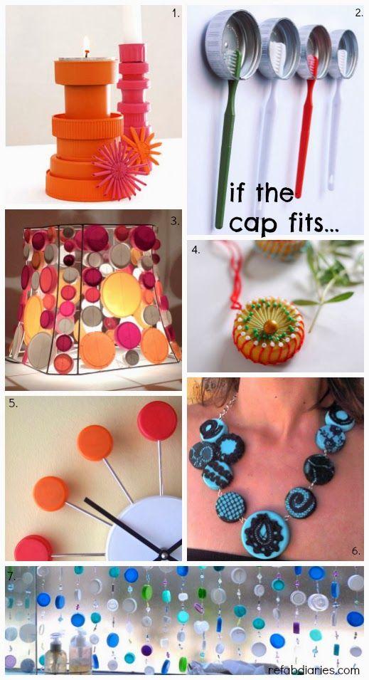 Repurpose Plastic Cap Surprises Ruh Idees Bottle Cap Crafts