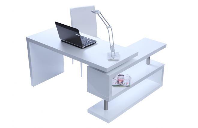 Bureau design blanc laqué amovible MAX work station Pinterest