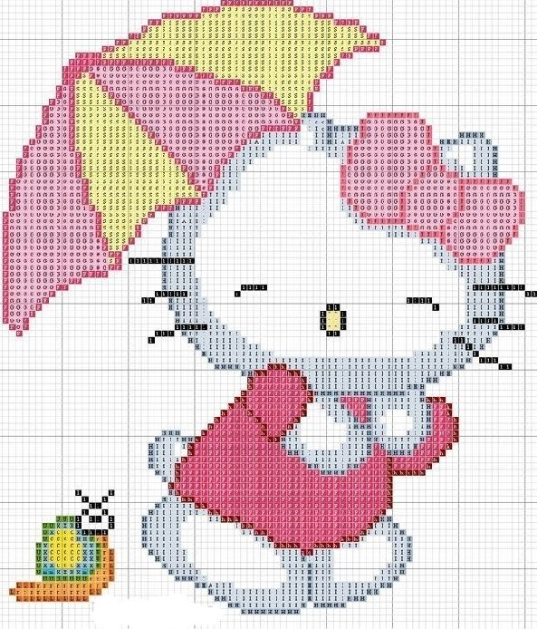 Hello Kitty Cross Stitch Pattern | baby disney | Pinterest | Punto ...