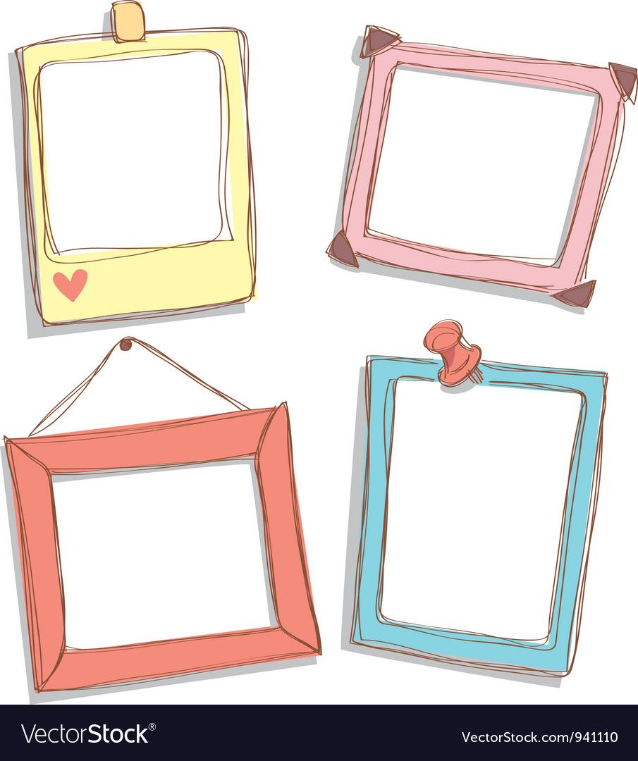 Cute Frame Doodle Download A Free Preview Or High Quality Adobe Illustrator Ai Eps Pdf And High Resolu Cute Frames Cute Picture Frames Picture Frame Designs