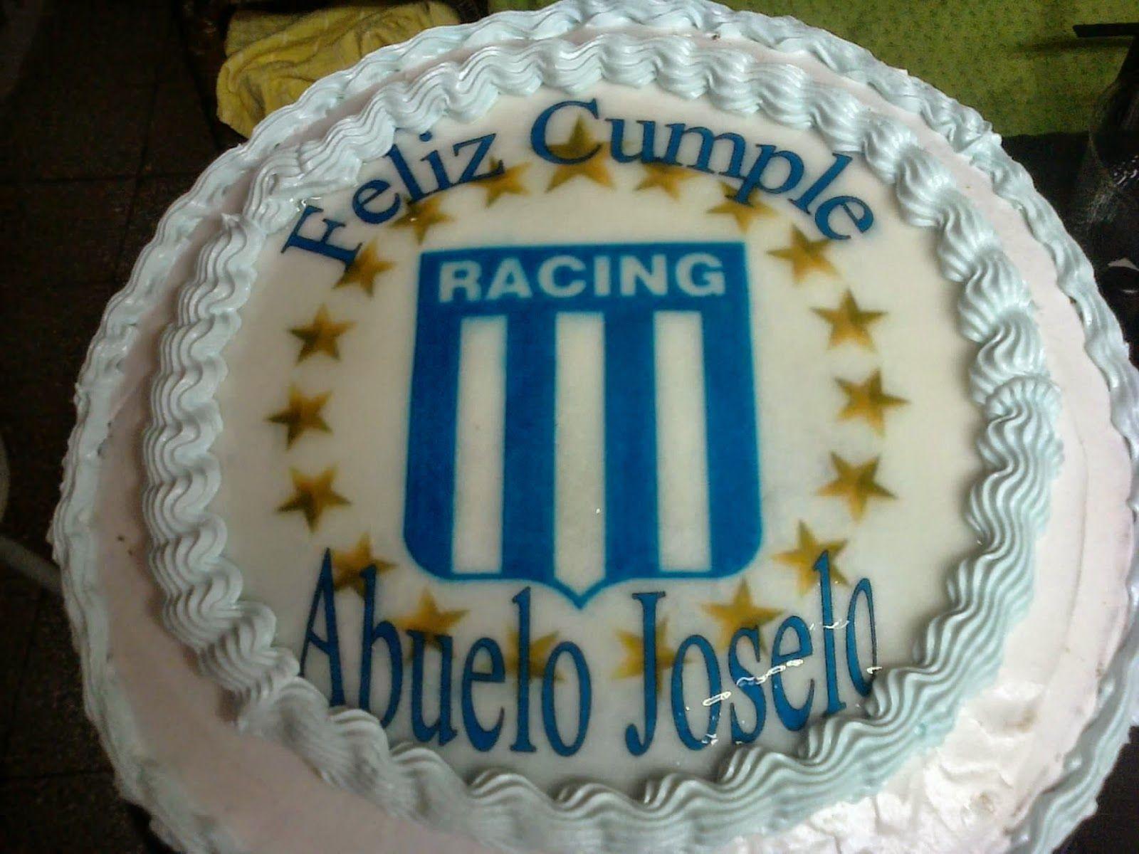 Fototortas rico y divertido torta de racing club de for Tortas decoradas faciles