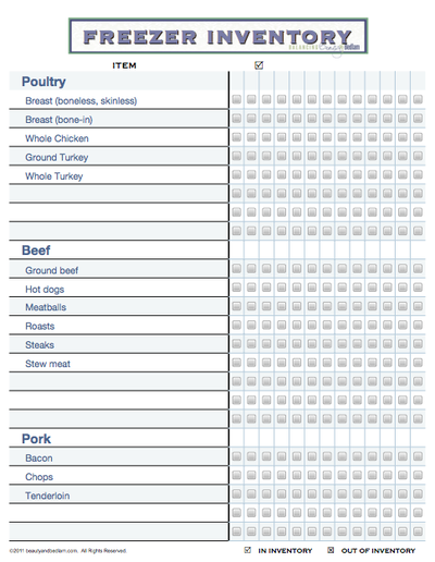 photo about Freezer Inventory Printable known as January 30th - Freezer Stock PDF recipes Freezer