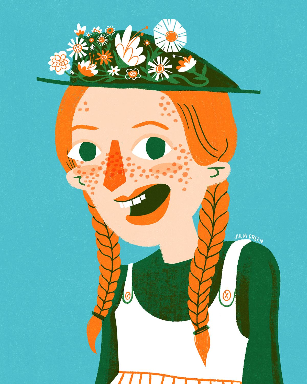 Anne Of Green Gables Anne With An E Illustration By Julia Green