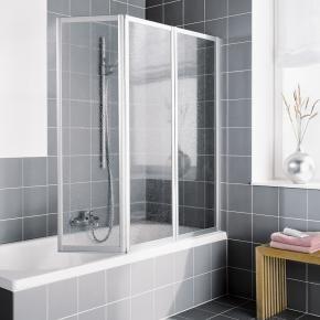 Kermi vario 2000 faltwand 3 fl gelig auf badewanne kerolan Reuter salle de bain