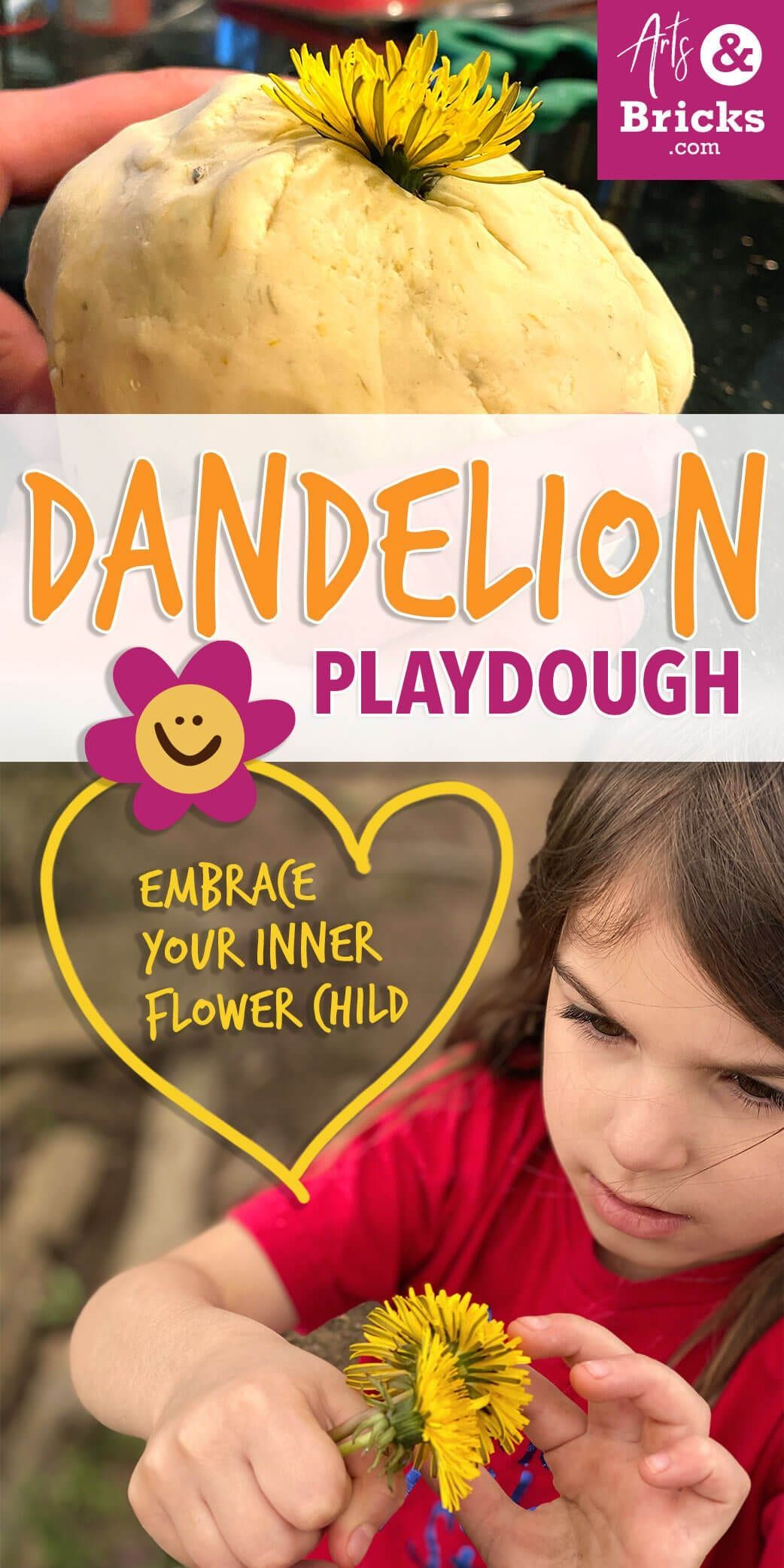 Dandelion Playdough Recipe without Cream of Tartar Arts