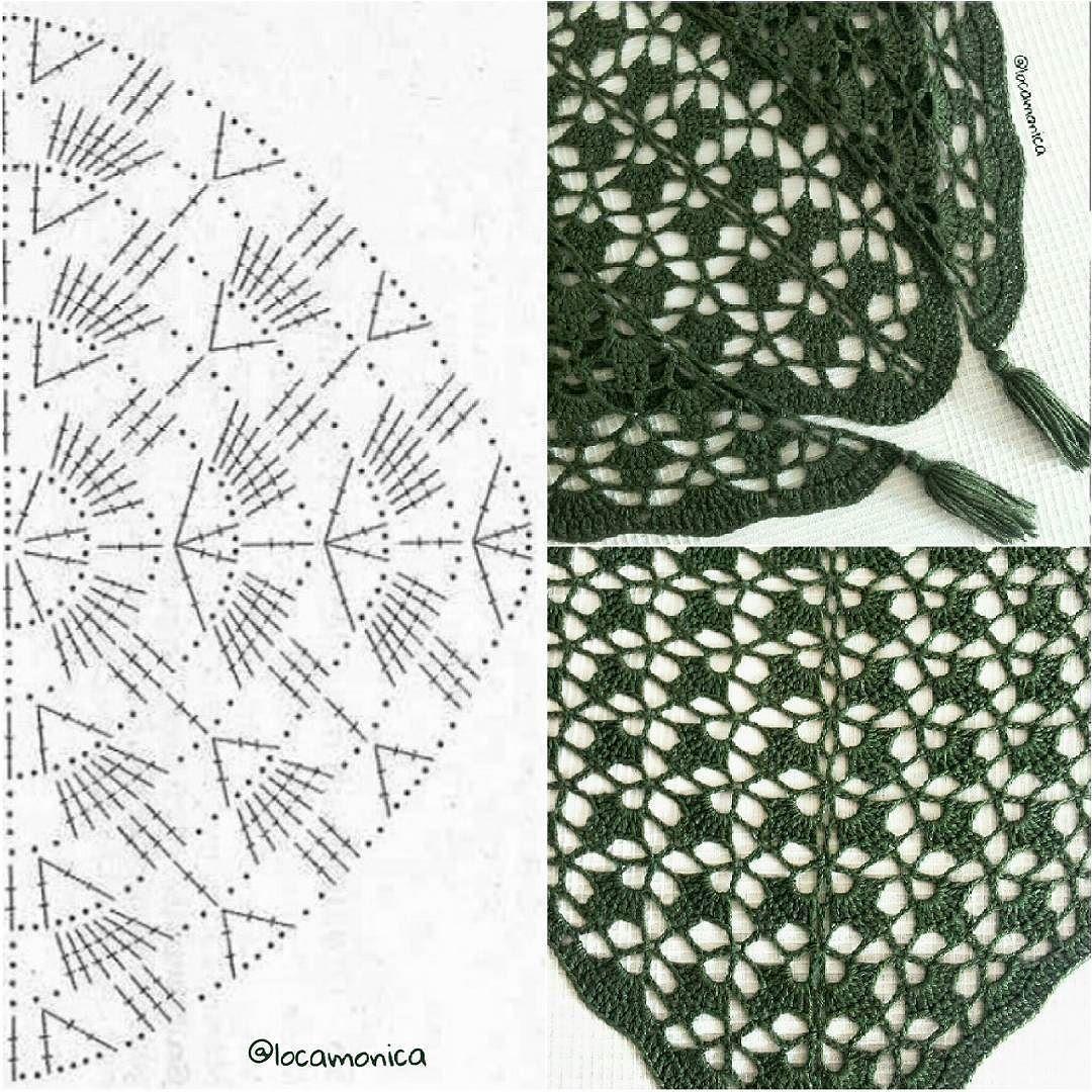 Encantador Patrón De Crochet Chal De Fácil Colección - Manta de ...