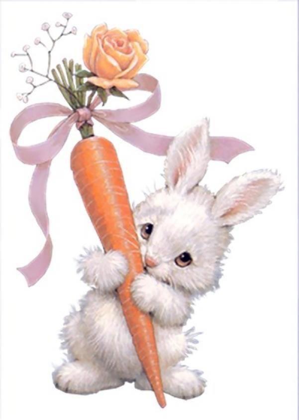 Открытки, открытки поздравляем с зайцами