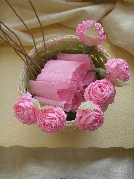 Lembrancinhas e Festas COMO FAZER LINDAS ROSAS DE PAPEL CREPOM flores papel Rosas de papel  -> Decoração De Papel Crepom Como Fazer