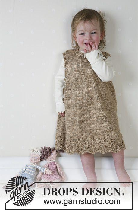 Sweet Rebecca / DROPS Baby 13-4 - DROPS Kleid aus 2-fädigem Alpaca ...