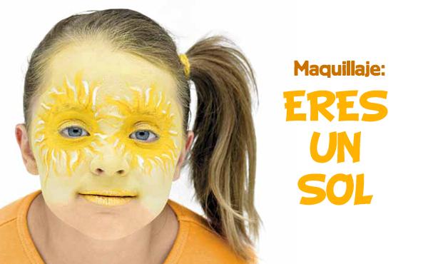 Maquillaje Infantil Eres Un Sol Maquillaje Infantil Maquillaje Infantiles
