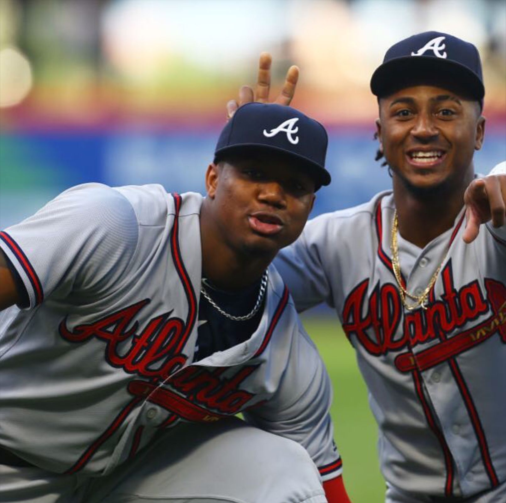 Ronald Acuna And Ozzie Albies 2018 Atlanta Braves Baseball Atlanta Braves Braves