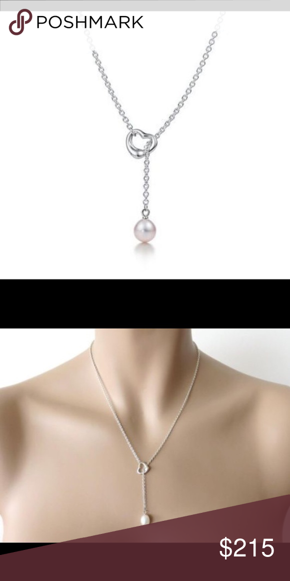 9f93ceec4a6cc Elsa Peretti Open Heart Lariat Sterling silver with a freshwater ...