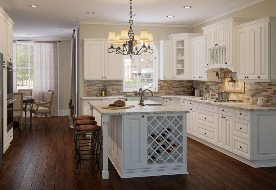 Dakota White Rta Kitchen Cabinets: Cabana White Kitchen Cabinets