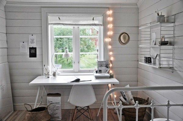 Ideen Arbeitszimmer ~ Arbeitszimmer dekoideen mit lichterketten dekoration decoration