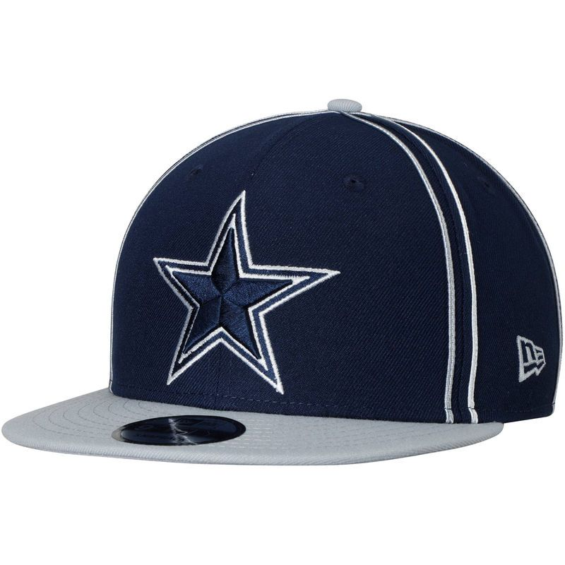 fee9d7dd8 Dallas Cowboys New Era Y2K Team Soutache 9FIFTY Adjustable Snapback Hat -  Navy Gray