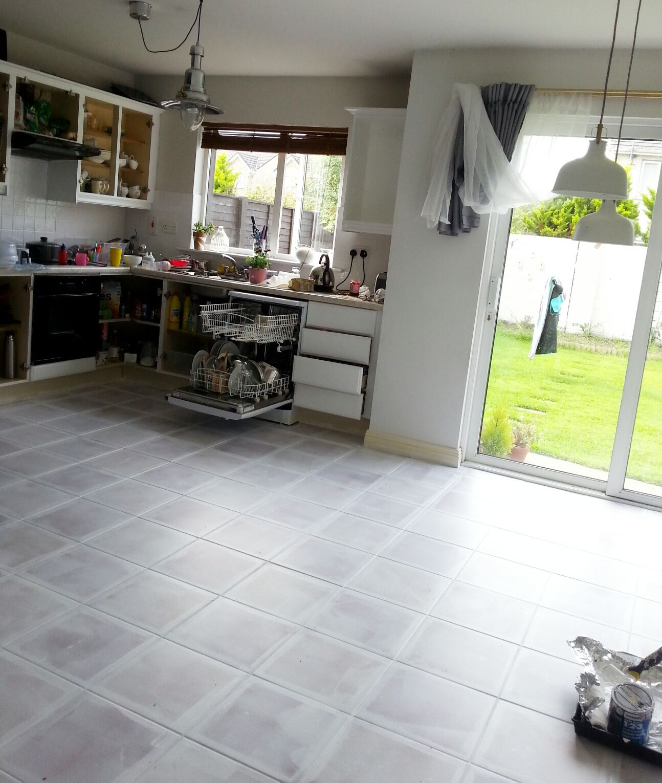 First Off Can I Just Say A Huge Thank You For All The Positive Feedback For The Kitchen Reveal It Was S Kitchen Flooring Tile Floor Diy Painting Tile Floors