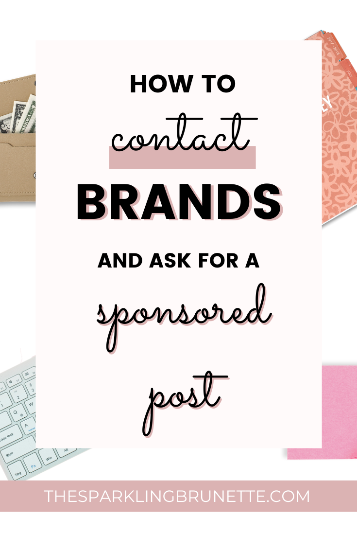Do you want to collaborate with brands and get a sponsored post? In this easy guide you will find out how to pitch brands