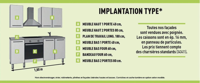 Cuisine Luna Brico Depot Meuble Bas Meuble Haut Plan Cuisine