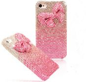 Image of Shiny Pink Bowknot Rhinestone Handmade Hard Cover Case For Iphone 4/4s/5