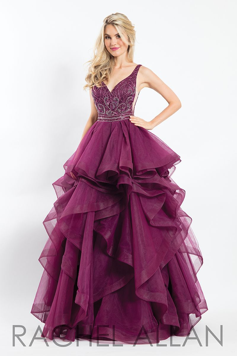681da573ef8 This precious style is a gown that will stand out at your prom. The style  compliments this statement as it has detailed beading along the bodice