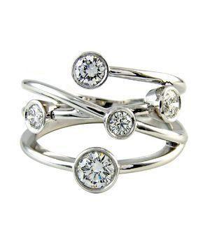 Bubble Diamond Rings Diamond Bubble Ring Featuring