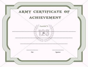 Achievement Certificate Template Recognize The Achievement