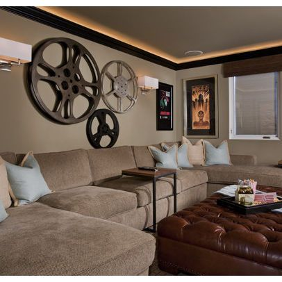 Media Room Wall Decor media room vintage movie posters design ideas, pictures, remodel