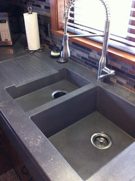 Concrete Sinks Concrete Vessels Hard Topix Precast Concrete Grand Rapids Michigan Concrete Sink Concrete Countertops Sink
