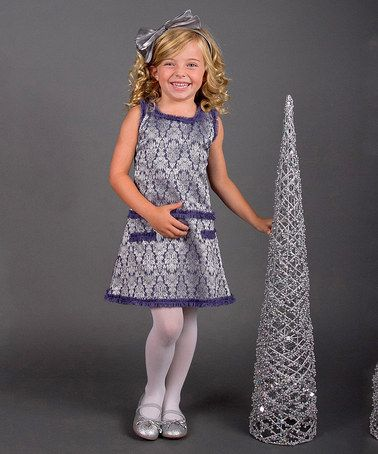 Another great find on #zulily! Silver & Slate Shift Dress - Toddler & Girls #zulilyfinds