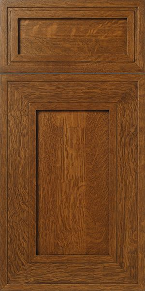 S280 Insight Quarter Sawn White Oak Mitered Cabinet Door And Drawer Front With Brown Stain Quarter Sawn White Oak White Oak Kitchen Craftsman Style Kitchens